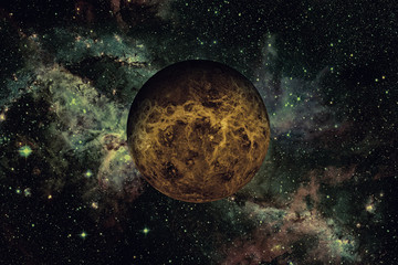 Planet Venus. Elements of this image furnished by NASA.