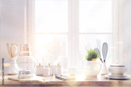 laid brown kitchen talbe window toned stock photo and royalty free