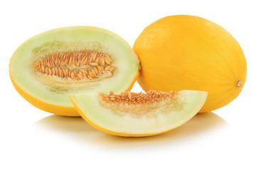 Honigmelone geschnitten Früchte Frucht Obst Sommer Freisteller freigestellt isoliert