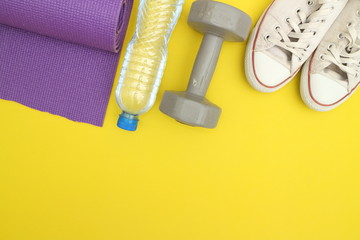 Wall Mural - fitness equipment  concept