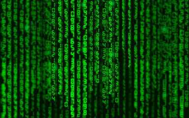 Abstract illustration. Vector streaming binary code background.