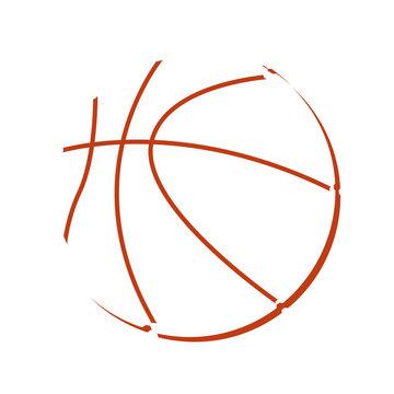 Isolated basketball ball