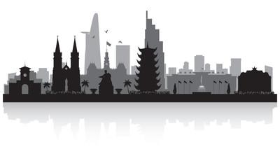 Wall Mural - Ho Chi Minh city Vietnam city skyline silhouette