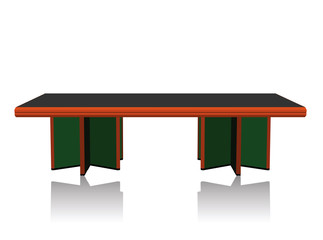 table silhouette on white background