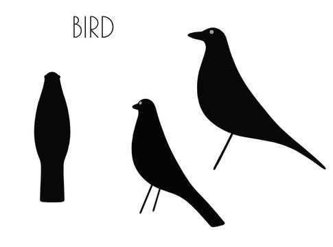 bird silhouette on white background