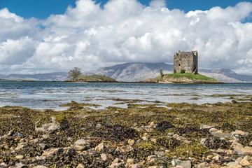 The historic castle Stalker in Argyll