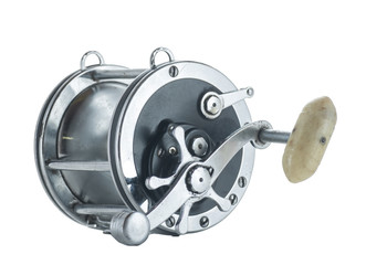 Antique Reel isolated on white background