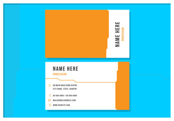 Orange and White Business Card layout