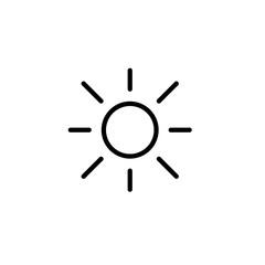 sun, light, brightness line black icon on white background