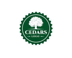 green emblem cedar logo