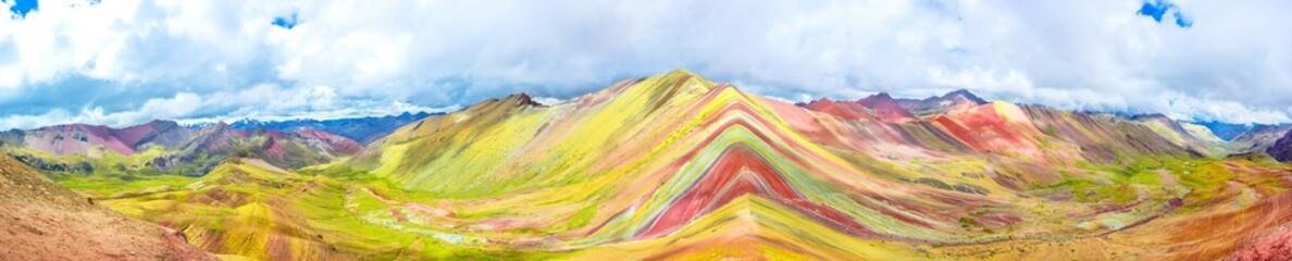 Vinicunca or Rainbow Mountain,Pitumarca, Peru