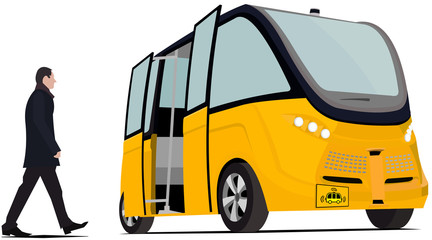 Self driving bus isolated