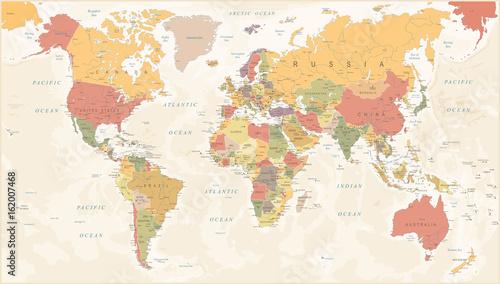 Vintage world map vector illustration stock image and royalty vintage world map vector illustration gumiabroncs Choice Image