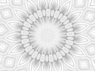 Black and White Kaleidsoscope Illustration
