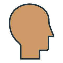 head silhouette flat icon vector illustration design graphic