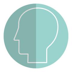 head silhouette flat icon vector illustration design image