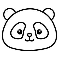 Stuffed animal panda icon vector illustration design image