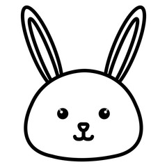 Stuffed animal rabbit icon vector illustration design image