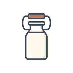 jar of milk drink colored icon