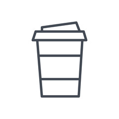 Cup of coffee drink line icon
