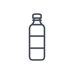 Bottle of water line icon