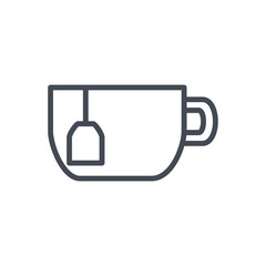 Cup of tea drink line icon