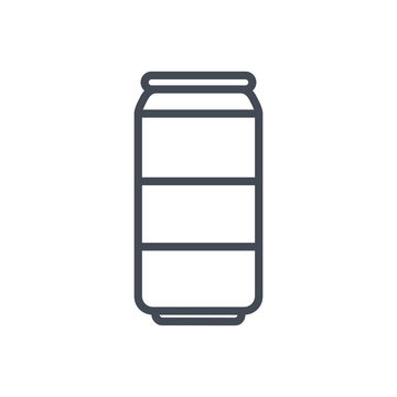Soda can drink line icon