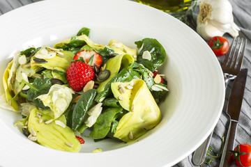 Salad Spinach Avocado Strawberry
