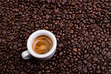 espresso a lot of coffee beans