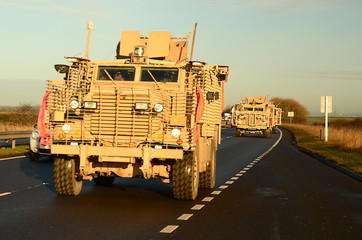 Army, military convoy, war on terror