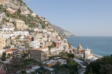 Panoramic view of Positano on the Amalfi Coast
