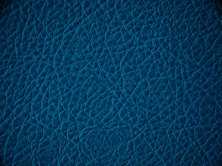 Blue leather texture or background