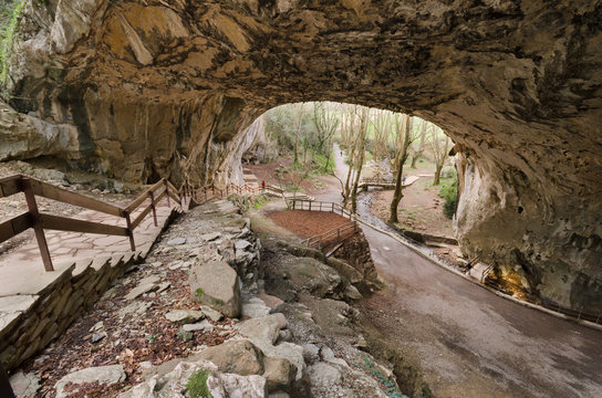 Famous Zugarramurdi witches cave in Navarre, Spain.