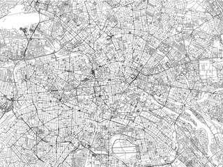 Cartina di Berlino, città, strade, Germania, vista satellitare