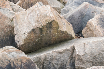 Granite boulders in hurricane barrier