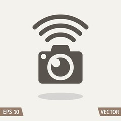 Photo camera Wi-Fi connection icon
