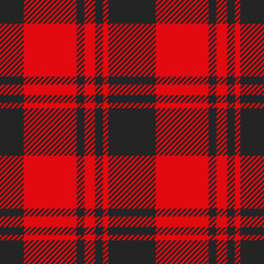 Lumberjack seamless pattern. Plaid texture vector.
