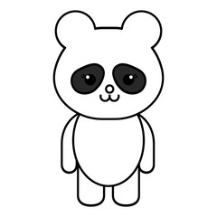 Stuffed animal panda icon vector illustration design draw