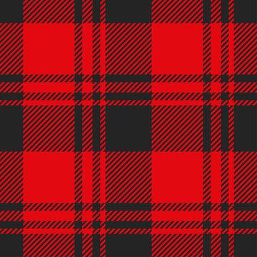 Lumberjack seamless pattern. Plaid texture vector.