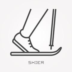 Line icon skier