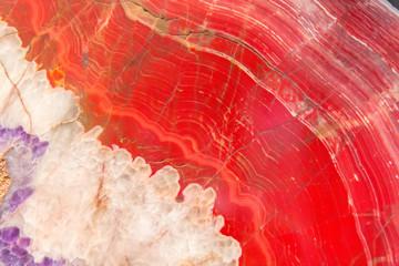 Minerał z czerwonego agatu