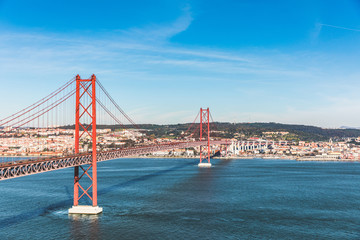 Lisbon, 25 de Abril bridge in Lisboa, Portugal Wall mural