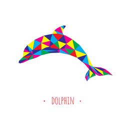 Dolphin stylized triangle polygonal model