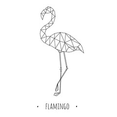 Flamingo stylized triangle polygonal model