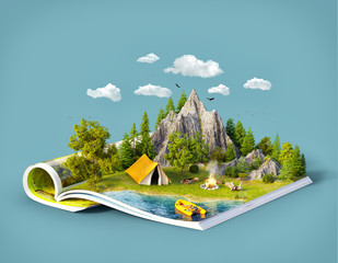 Mountain on pages