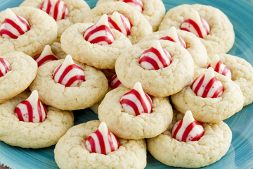 Homemade Candy Cane Kiss Cookies