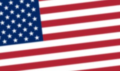Blurred United States flag. Blurred USA flag. American symbol. Blurred United states flag. Independence day background.