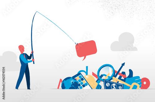 Pescare dalla spazzatura del  Web