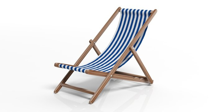 Beach chair on white background. 3d illustration