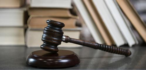 Judge's gavel. Law theme